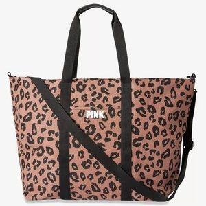 Victoria's Secret PINK Cheetah Weekender Tote NEW